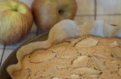 Grandmothers apple pie Stock Photos