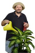 Stock Photo of Portrait of jolly bearded florist