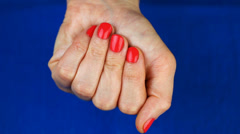 Woman's hand with pills Stock Footage
