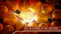 Idea Flicker with text 1 Stock Footage