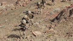 US Marines - Mountain Hike 07 Stock Footage
