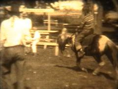 Pony Ride in the 1940's Stock Footage