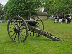 confederate artillery - stock photo