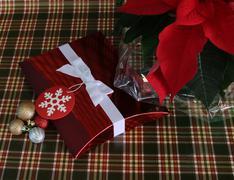 Red Christmas Box Stock Photos