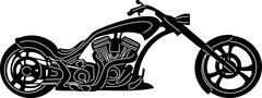 Motorcycle Silhouette Stock Illustration