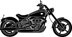 Motorcycle Silhouette - stock illustration