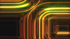 Golden glowing shapes scroll background Stock Footage