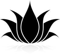 Lotus Silhouette Stock Illustration