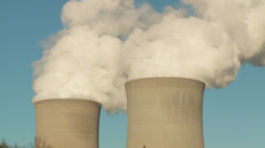 Nuclear Power Plant Cooling Towers Timelapse 1 Stock Footage