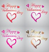 Happy Valentines day - stock illustration