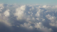 Stock Video Footage of 0244 Flyng over the clouds. Very soft cumulonimbus