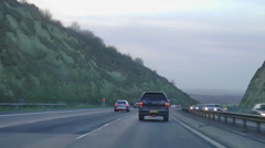 POV driving clip of Highway Motorway Car Driving Stock Footage
