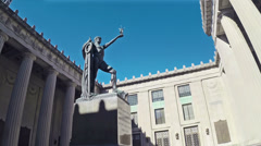 Nashville World War I Memorial Statue Tracking HD Stock Footage