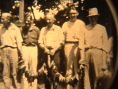 Fishing in the 1940's - stock footage