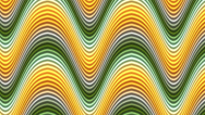 Stock Video Footage of Seamless green and yellow wave scroll background
