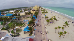 Aerial Hollywood Beach Arkistovideo