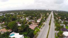 Hollywood Beach Boulevard Stock Footage