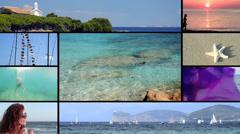 Sardinia, montage Stock Footage