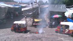Third world country.Guatemala, Chichicastenango market. Stock Footage