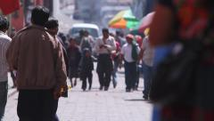 Guatemala.People walking on the streets of Chichicastenango 1 - stock footage