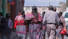 Guatemala.People walking on the streets of Chichicastenango Stock Footage