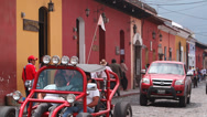 Stock Video Footage of Life in small colonial town in Central America
