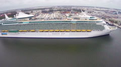 Royal Caribbean Cruise Ship Stock Footage
