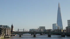 london bridge with shard - stock footage