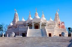 Stock Photo of hindu mandir temple made of marble