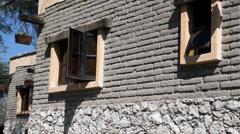 Mexican hacienda windows perspective Stock Footage
