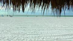 Marco Island Beach Hut 01 Stock Footage