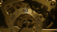 Stock Video Footage of Clock, gears, Clockworks, close up