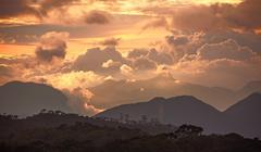 Adam's Peak Sunset Sri Lanka - stock photo