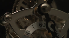 Clock, gears, Clockworks, close up - stock footage