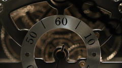 Clock, gears, Clockworks, close up Stock Footage