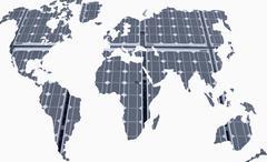 World map, alternative energy, concept Stock Illustration