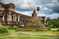 Stupa at angkor wat Stock Photos