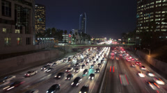 Stock Video Footage of LA NIGHT TRAFFIC - TIMELAPSE 1