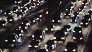 Stock Video Footage of Los Angeles Night Traffic