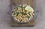 Stock Photo of cooked chickpeas