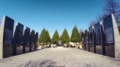 Nashville WWII Memorial HD Blue Sky Stock Footage