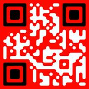 "Artistically decorated QR code for phrase ""Total sale"" - stock illustration"