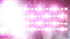 Flashing lights equipment for music video (drawing style) Stock Footage