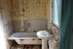 Bathroom refurbishment - stock photo