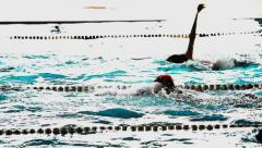 0248 swimming-pool Stock Footage