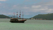 Stock Video Footage of Pirate Ship