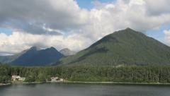 Sitka, Alaska Mountain Range Stock Footage
