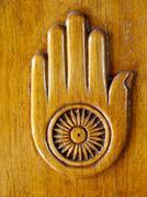 Jainism Symbol Stock Photos
