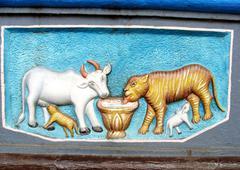 Jain Symbol of Compassion - stock photo