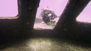 Stock Video Footage of Wreck diving and filming 1280x720